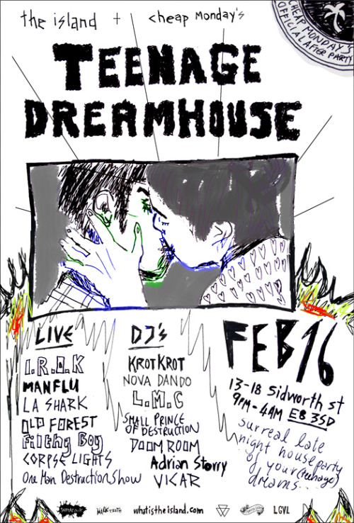 DJing at the teenage dreamhouse tomorrow night