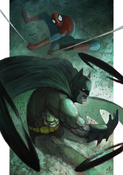 herochan:  The Bat & The Spider Created by Ry Shiu  deviantART | Facebook | Twitter | Tumblr (Via: ry-spirit)