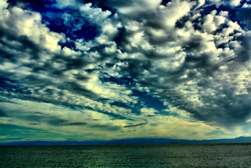 mypinkhairisboringme:  Clouds over the Bay in Alameda (HDR) by harminder dhesi photography on Flickr.