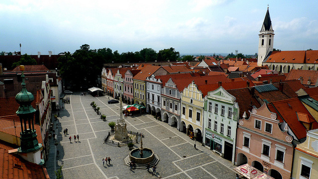 | ♕ |  Marktplatz in Třeboň, Czech Republic  | by © Daniel Zollinger