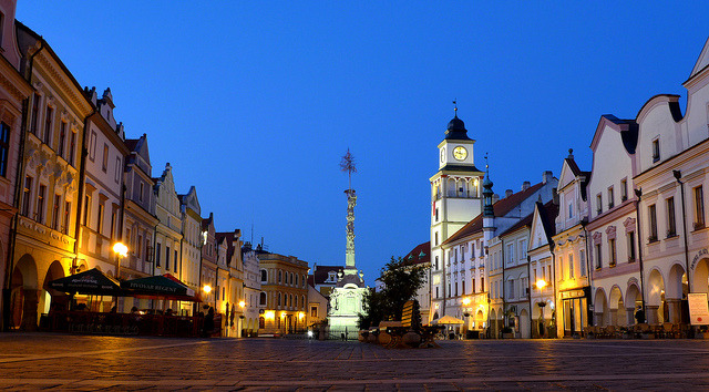 | ♕ |  Třeboň square, Czech Republic  | by © Daniel Zollinger