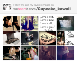 mecupcakekawaii:  Follow me on We Heart It!   follow her