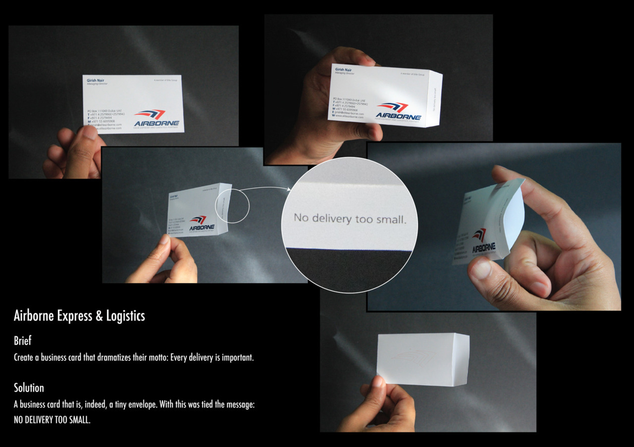 Airborne Express & Logistics Business Card