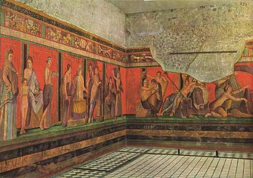 "warrior-knight:  ""Villa of the Mysteries, Pompeii, 65 BCE"""