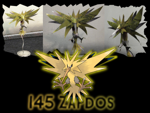 #145 Zapdos I don't feel like putting this baby on the queue either. I made it without any prompting whatsoever, and my R.A. comes in and buys it off me. And now that I look at the pictures, it was pretty sweet. I think I'm over it, because I still have my (Choose your own adventure: wicked/baller/sweet/cute) Moltres. I know it's kind of a jerk move to tease you like that, but you must save yourself for Moltres. If you have snacks before you get Moltres…I'm not going anywhere with that. Thanks for following, and as always, a reblog of me is a follow of you.