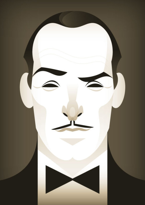 Could he win the Oscar? Nominee Jean Dujardin illustrated by @stan-chow. stanleychowillustration:  and the winner is…