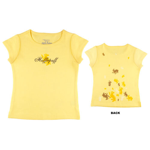 hufflepuffuniforms:  Hufflepuff T-shirt, I'm unsure as to where this is from.