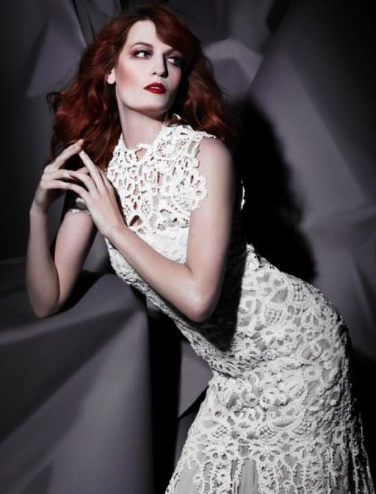 bibhu:  Florence Welch in Bibhu Mohapatra  Photo by Karl lagerfeld  Still love this Florence Welsh photo by Karl L in a gown by Bibhu Mohapatra for the cover of her album.