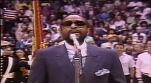 On February 13th, 1983 Marvin Gaye sang the National Anthem at the NBA All-Star game in Los Angeles.  Aside from Whitney Houston's Superbowl performance, Gaye's rendition is one of the most legendary performances of The Star Spangled Banner in sports history. Click through to watch: (via 29 Years Ago Today: Marvin Gaye Sings The National Anthem At The NBA All-Star Game)