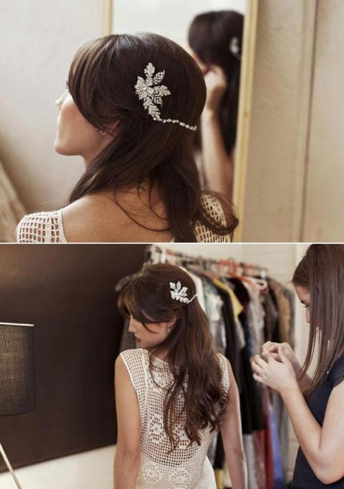 i want something like that in my hair when i get married :3