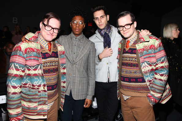 AndrewAndrew with Spankrock and Gabe Saporta from Cobra Starship at Timo Weiland's Fall 2012 Men's and Women's Runway Show
