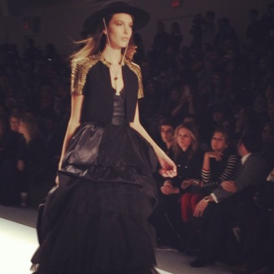 Finale at Carlos Miele. #nyfw  (Taken with instagram)