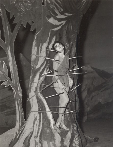 holdthisphoto:  Ludmilla Tcherina as St Sebastien, 1955