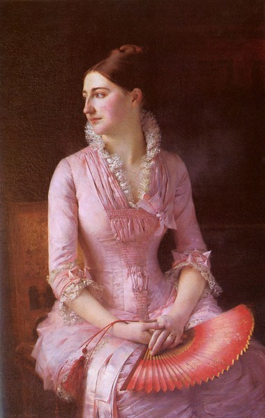 Portrait of Anne-Marie Dagnan by Gustave Courtois, 1880