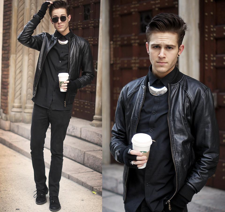 lookbookdotnu:  Leather & chrome  (by Adam Gallagher)  O_O im in love <333