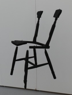 A Chair With All Points Of Contact Removed, 2012 Wooden Chair and Matt Paint