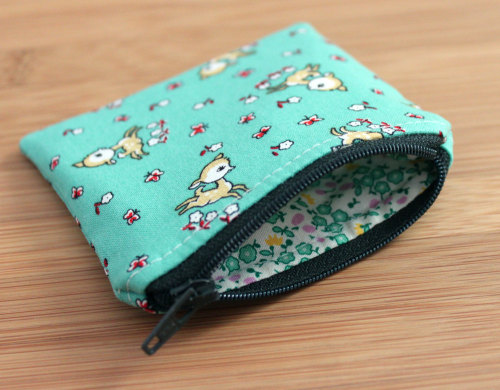 Jade Fawns Zipper Bag by ohsoretro on Etsy Another Etsy addiction of mine—adorable zippy pouches.  I really don't need anymore of them, but I feel like I can never have enough.  There are just so many cute ones!