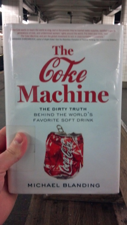 "The Coke Machine: The Dirty Truth Behind the World's Favorite Soft Drink by Michael Blanding (2011)  ""Is it hungry? / Is it real? / Does it know basically how I feel?""             -Wounded Lion, ""Hungry?""  If Wounded Lion, here, is asking about Coca-Cola, Michael Blanding answers, ""yes."" Throughout The Coke Machine, an unflattering tour of the company's extensive, and near-labyrinthine, history of lies and greed, Blanding positions Coca-Cola as the ""essence of capitalism,"" which would be a hungry beast, indeed. The book is an attempt to portray company history as a feedback loop of turning the cold shoulder on vices and moral wrongs—especially the obesity problem in the USA, and political murders and environmental destruction in foreign countries—to maximize shareholder profits and positive brand image. This addition to the world of Soft Drink Studies is at its best when chronicling action. The lattermost part of The Coke Machine guides the viewer chronologically through an interconnected series of legal maneuvers against the company, pitting the Atlanta headquarters against a diverse cohort of lawyers, activists, union leaders, and far-flung villagers in an attempt to get Coke to admit its wrongdoings in Columbia (murder) and India (water rights, and pollution). In these pages, the book becomes an impressive bureaucracy procedural, detailing the way the courts, the lawyers, and the executives work together to make justice as complicated and ill-meted as cynically possible.  Elsewhere Blanding tries to scorch Coke with his prose, but all he can muster is a lukewarm cliché. If you can, fight through writing like this: ""Finding the Coca-Cola Company accused of murder is like finding out Santa Claus is accused of being a pedophile."" Yikes. Forgive the style, and you will be rewarded with substance. It's by no means essential, but I will never grudge the world another book about soda."