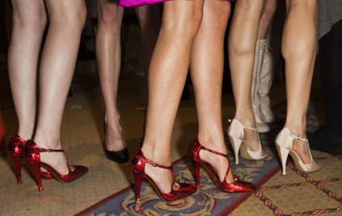 Hot hot hot heels at Thakoon's fall 2012 runway show. Photo: Mark Leibowitz