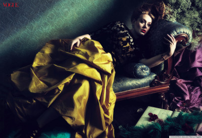 Adele for Vogue A recent shoot with Vogue, Adele nails it with this spread. Not only can she sing good, she makes a great model.