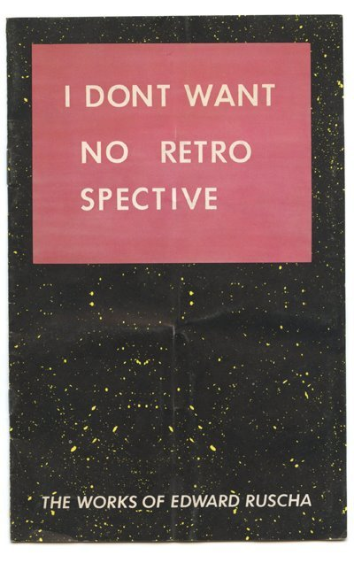 we-find-wildness:  Ed Ruscha: booklet from the exhibition organized by the San Francisco Museum of Modern Art, 1982  I like this so much.