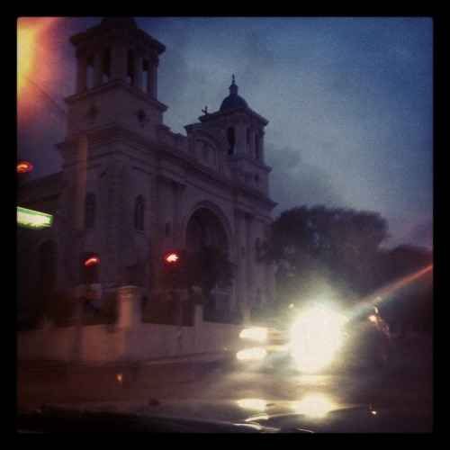 ohhfuckyeahh:  last night driving by All Saints.