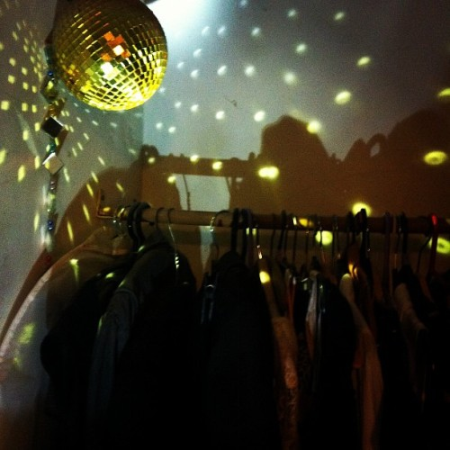Missed a day #febphotoaday I got a #disco #closet #gold #ball #light (Taken with instagram)