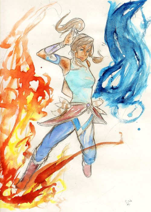 kiwiseathumans:  My fan art of Korra! Hopefully you guys enjoy! reblog,Follow me and request some stuff if you like :Dalso bryan if you see this I love you. :|