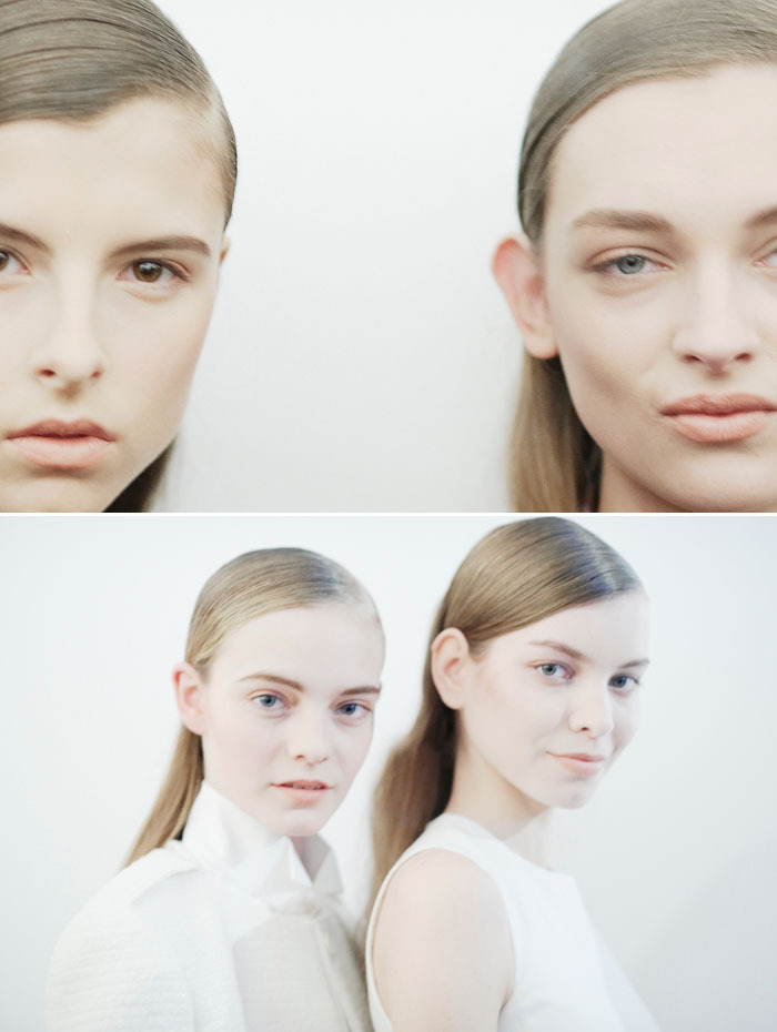 isaac and daga ziober, nimue smit and sabina smutna backstage at peter som by cara stricker