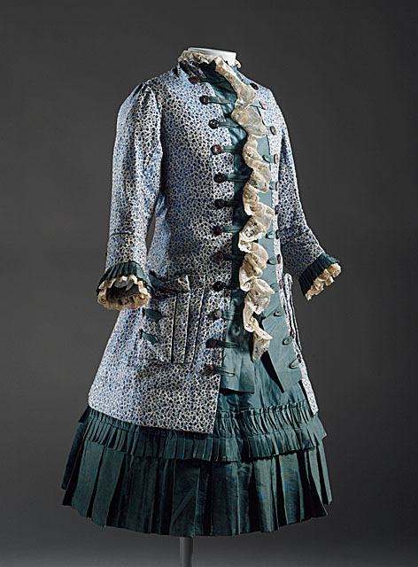 A wonderful girl's two-piece ensemble made in England circa 1885.