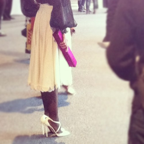 She's wearing pretty everything.#nyfw #fashion  (Taken with instagram)
