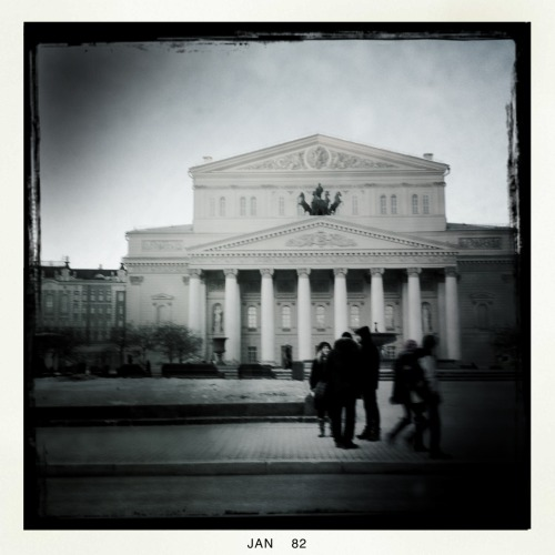 Bolshoy Moscow John S Lens, BlacKeys B+W Film, No Flash, Taken with Hipstamatic