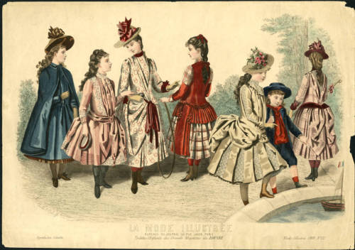 The latest in children's fashions from La Mode Illustrée, 1888.