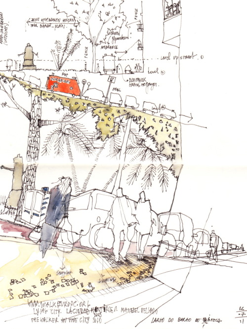 architectural-review:  Saida Heynickx: Ink and watercolour site analysis (from http://drawingarchitecture.tumblr.com/)   Archi representation
