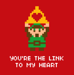 zombiebacons:  OK, one more nerdy Valentine…. You're the Link to My Heart. Downloadable, fold-able, .pdf for your Heartforce. For more poster updates, follow me here: Twitter  |  Behance  |  Website  |  Blog  |  DeviantArt