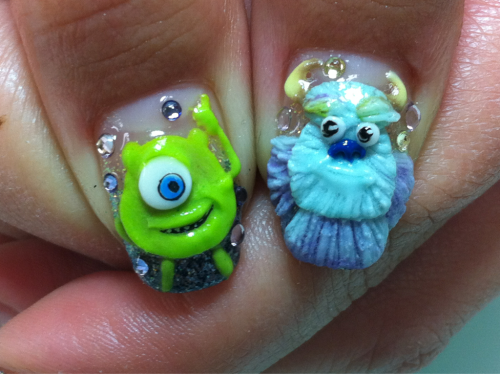 My new Monsters Inc nails! :]
