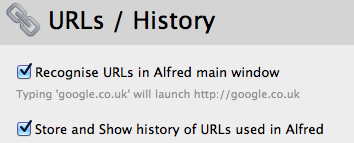 User Tip: Automatic bookmarking and retrieval  My favorite @alfredapp feature? Automatic bookmarking and retrieval. — Trevor Williams (@phase1g_o) February 13, 2012 A useful reminder of the URLs/History feature in Alfred where Alfred can store and show the history of URLs you've opened through the app thus serving as a quick and simple bookmarking tool. Don't forget to enable this feature in Preferences > Features > URLs/History. Have you tried it out?