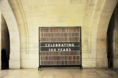 alexisfam:  New York Public Library celebrating its 100th year anniversary.