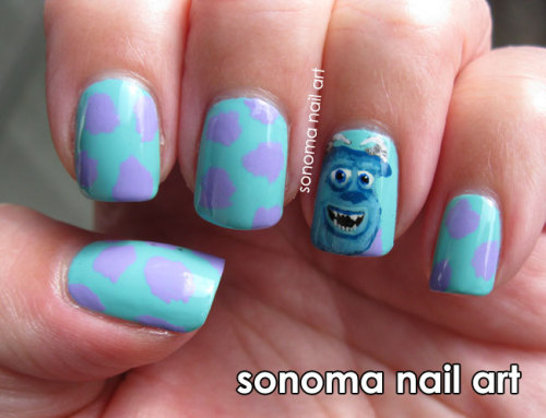 Sully from Monsters Inc. PS I am also doing a giveaway on my blog, so click here to find out more. :)