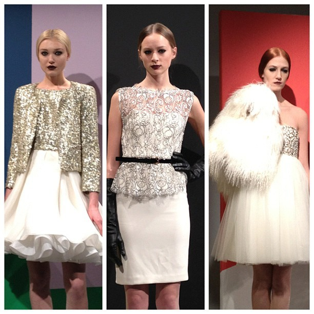 Winter whites. Wow! #aonyfw  (Taken with instagram)