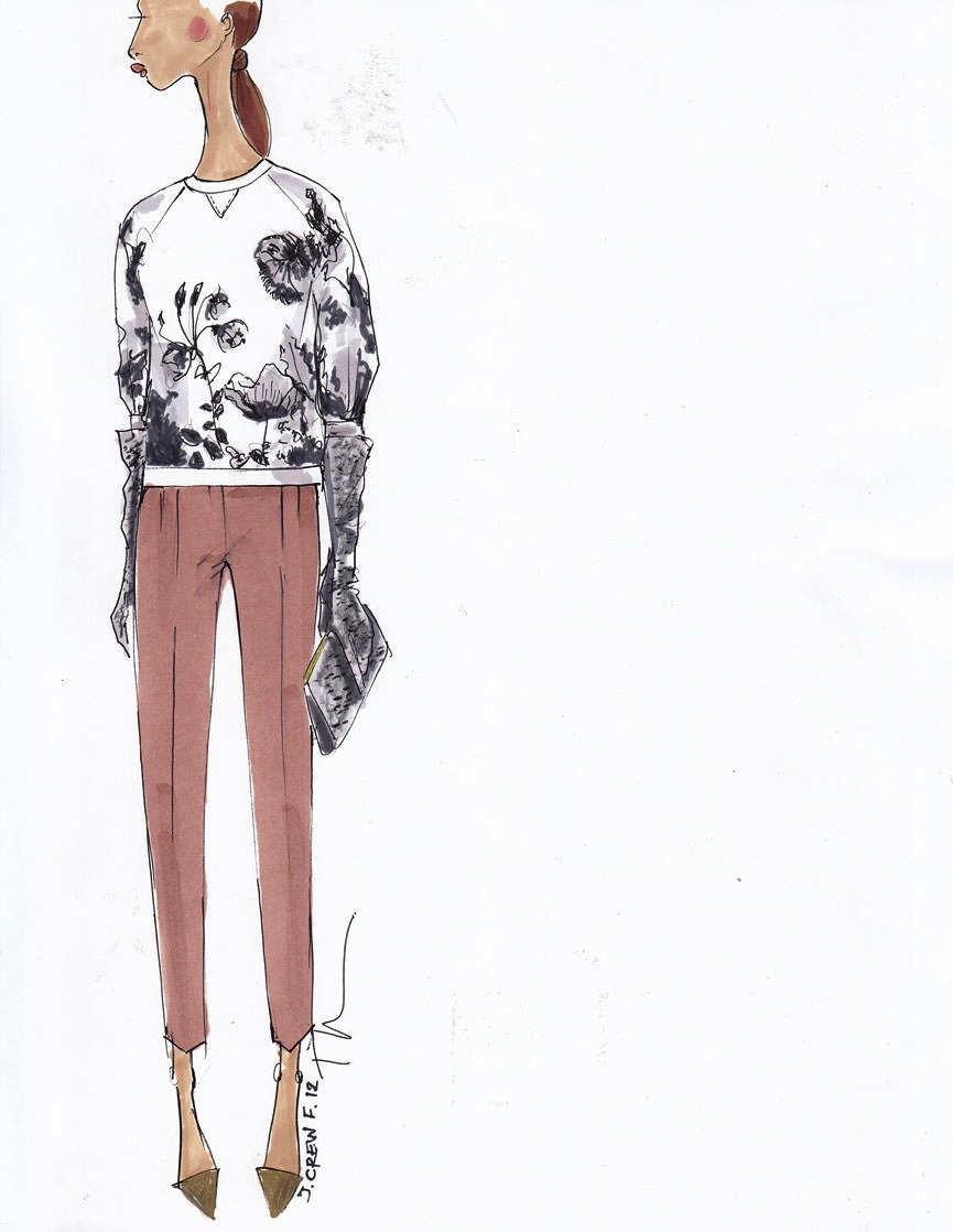Exclusive Sketch from J.Crew - Fall 2012 / Photo Courtesy of J.Crew Click here to see more from J.Crew's upcoming Fall 2012 collection.