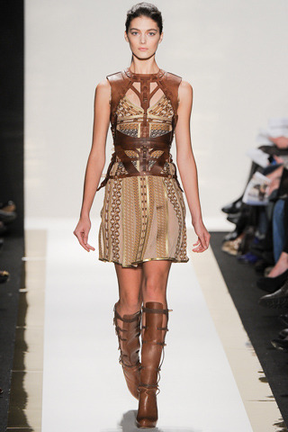 Herve Leger by Max Azria, fall 2012. Or, day wear for Daenerys Targaryen.
