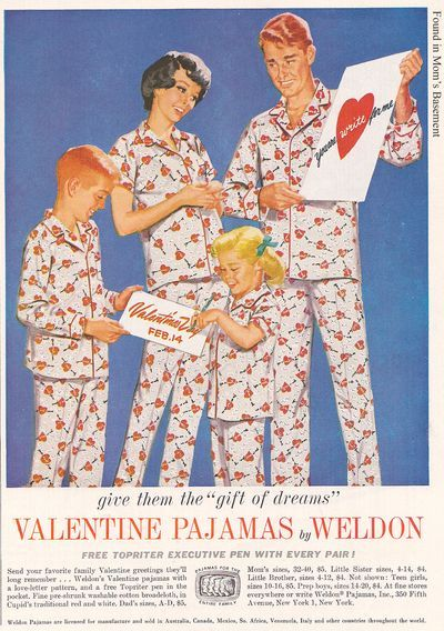 These vintage Valentine's Day PJs make us giggle (via Found in Mom's Basement)
