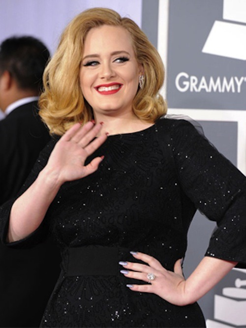 Adele's Secret Flip-Side Mani at The Grammys