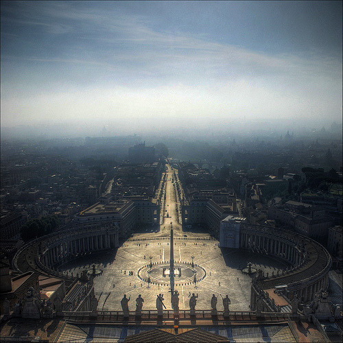 plane-ticket:  St. Peter's Square - Vatican City