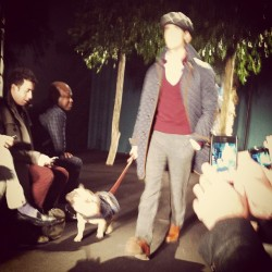 Pug on the catwalk at Michael Bastian (and on pants too) #attheshows #nyfw  (Taken with instagram)