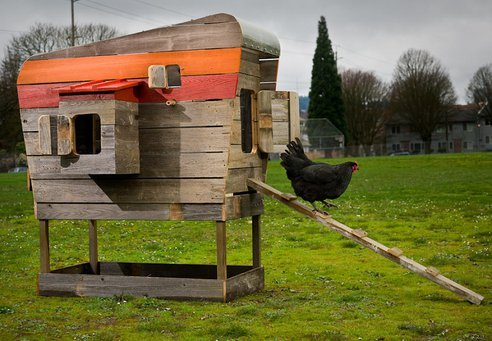 Chicken Coops Made From Reclaimed Wood Check out the article here from treehugger and the producers website here