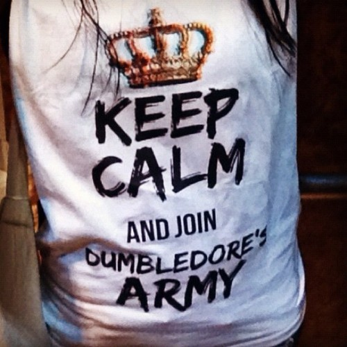 Keep calm and… #potterhead #keepcalm #motivation  (Taken with instagram)