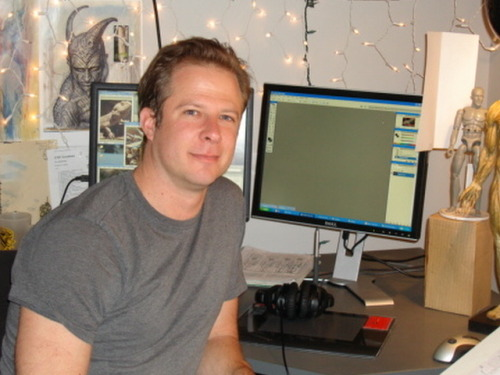 This is Adam Adamowicz, he was a concept artist for Bethesda. He's best known for his work on the Capital Wasteland and Skyrim for everyone to enjoy.  Adam passed away February 8th, 2012 from cancer. May he rest in peace.