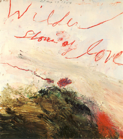 [cy twombly | wilder shores of love | 1985]